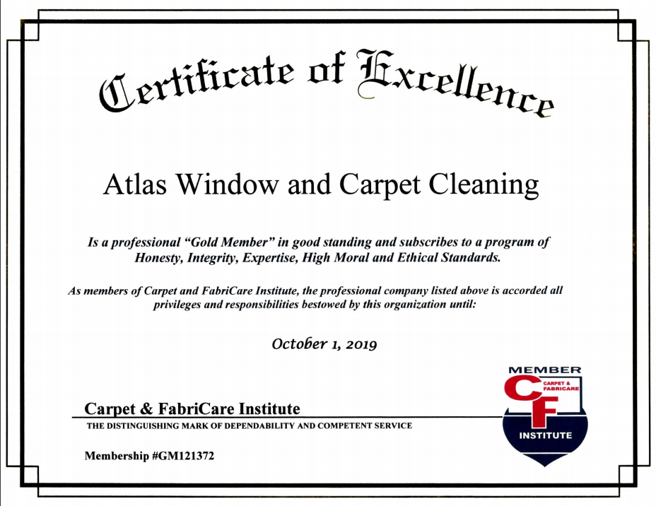 Certification of Excellence